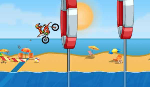 Moto X3M Pool Party - Play it now at CoolmathGames com