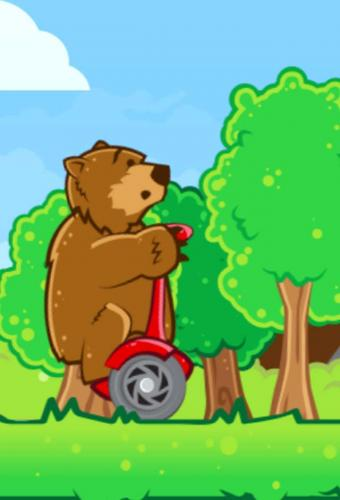 Bear on a Scooter Game Screenshot