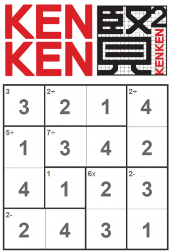 Daily KenKen game