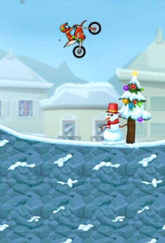 Moto X3M Winter Game Screenshot