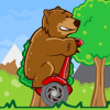 Bear on a Scooter Game