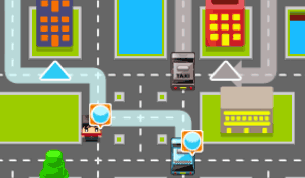 Taxi Pickup - Play it now at CoolmathGames com