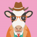 Hipster Cow Avatar