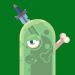 Green Slime with Knife and Bone Avatar
